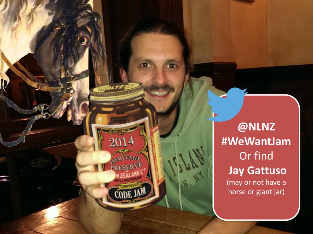@NLNZ #WeWantJam Or find Jay Gattuso (may or no...