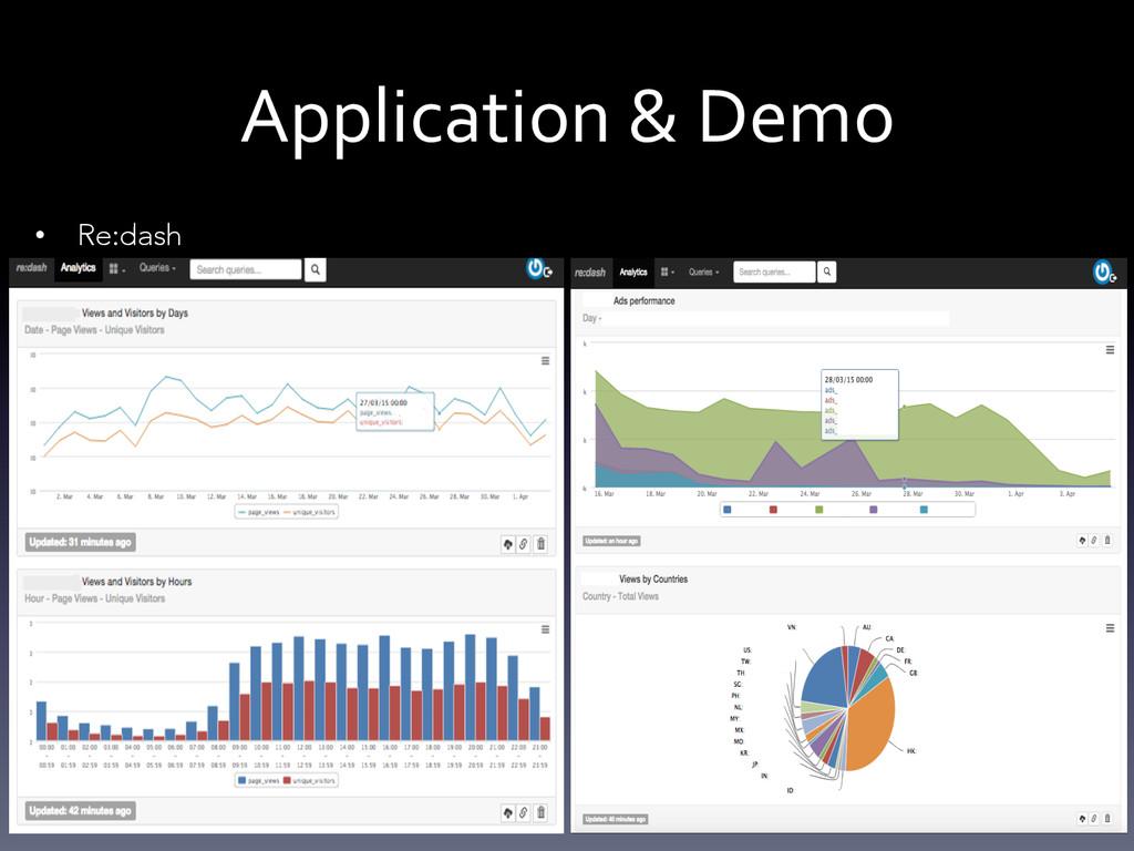 Application & Demo  • Re:dash