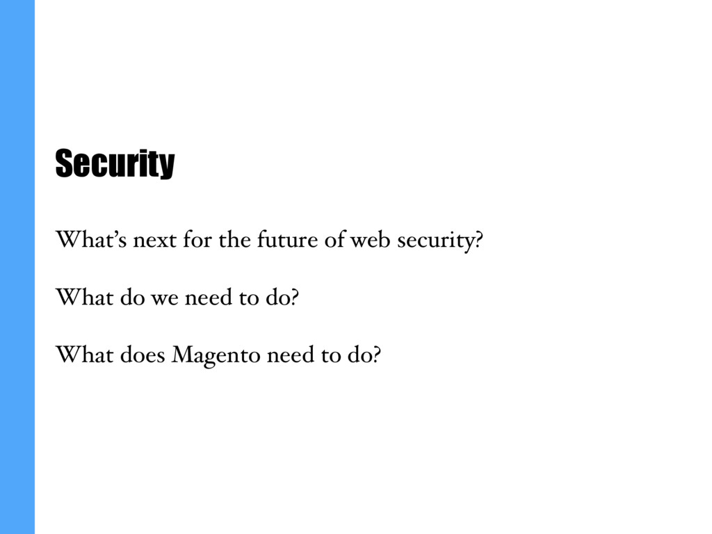 Security What's next for the future of web secu...
