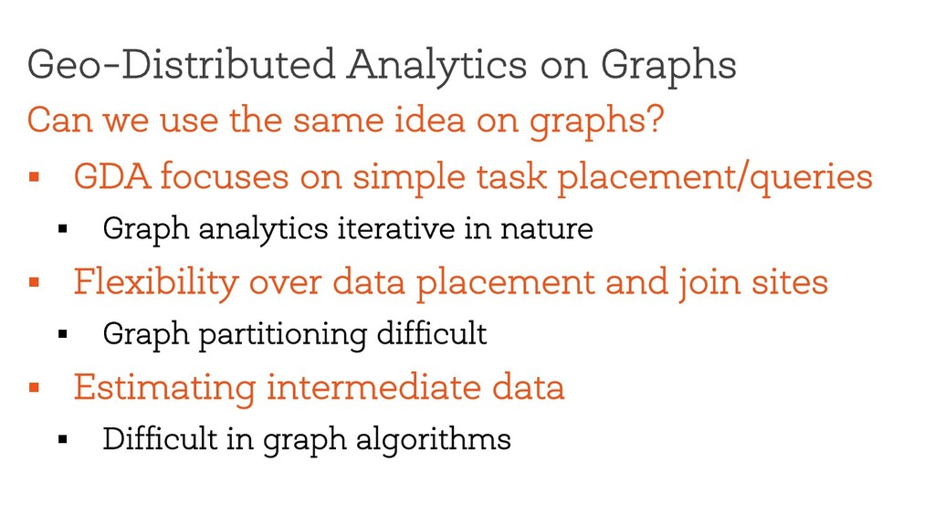 Can we use the same idea on graphs? § GDA focus...