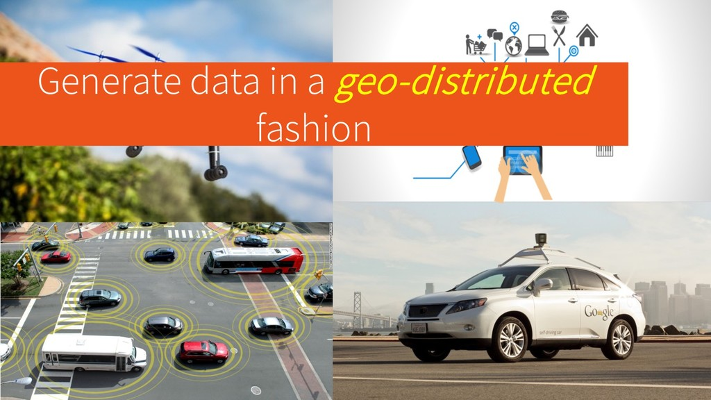 Generate data in a geo-distributed fashion