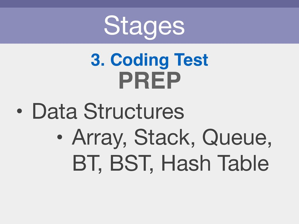 Stages 3. Coding Test • Data Structures  • Arra...