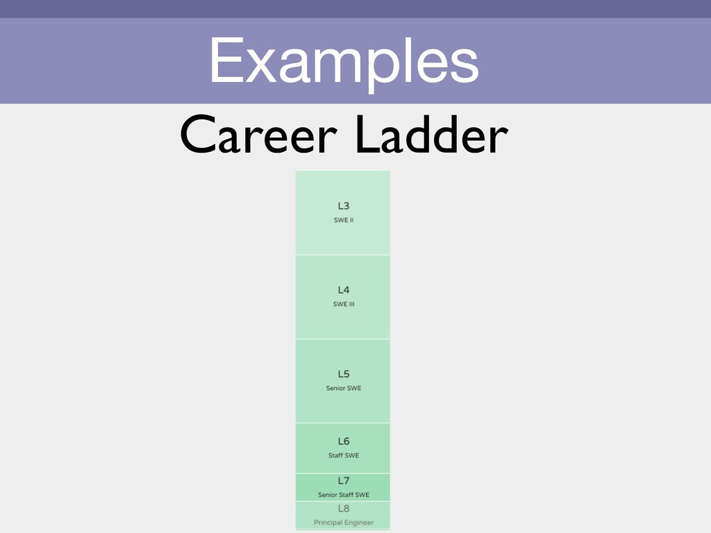 Examples Career Ladder
