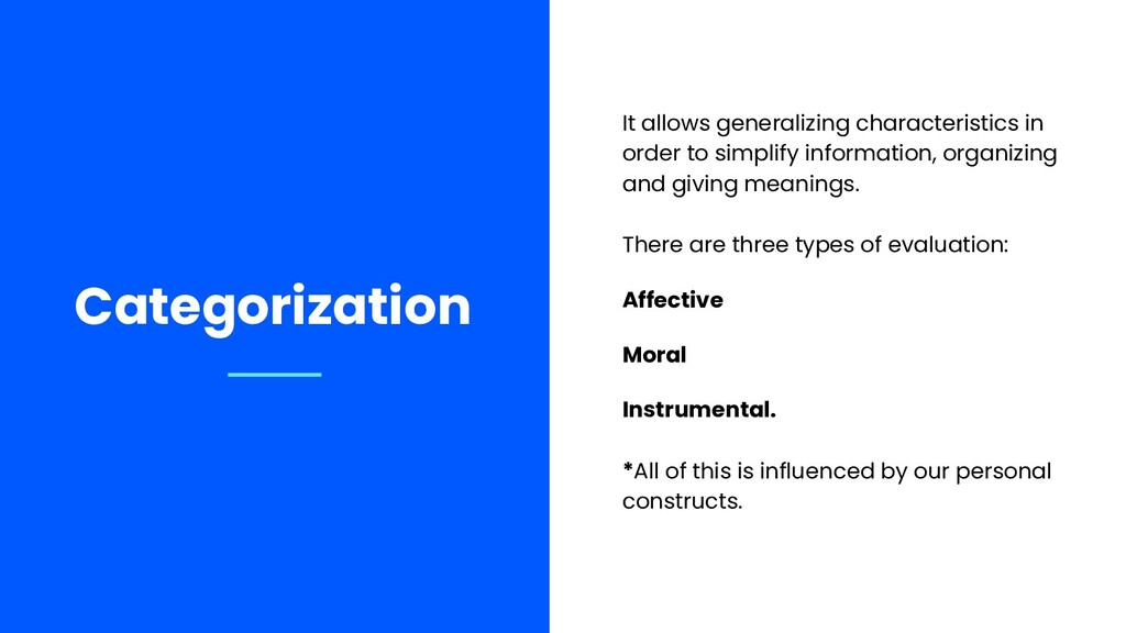 It allows generalizing characteristics in order...