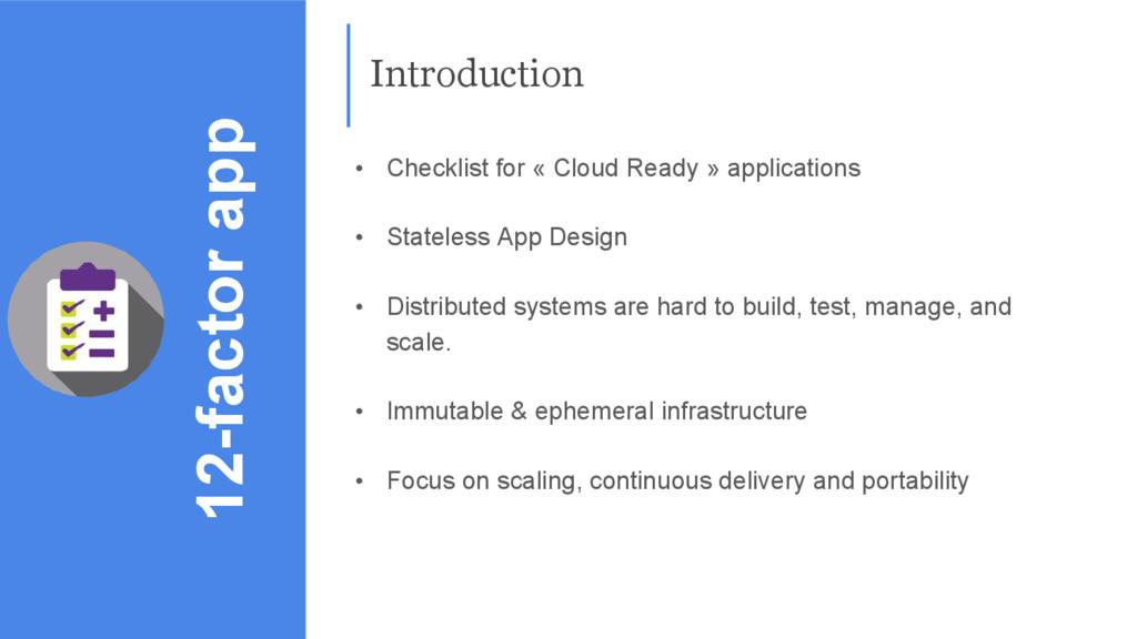 12-factor app • Checklist for « Cloud Ready » a...