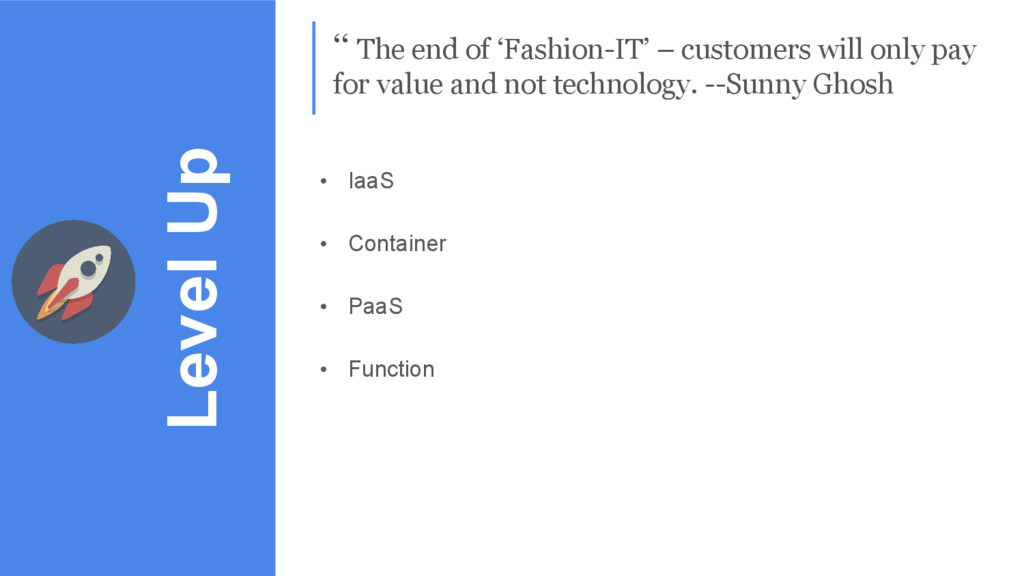 Level Up '' The end of 'Fashion-IT' – customers...