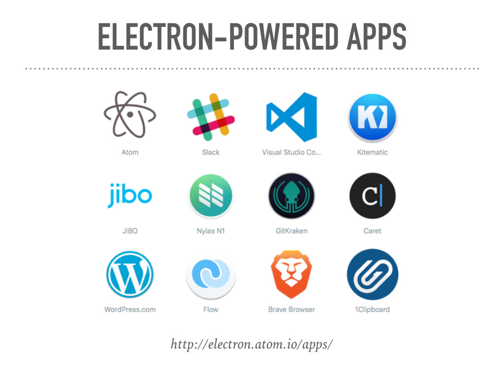 ELECTRON-POWERED APPS http://electron.atom.io/a...