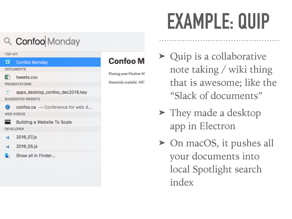 EXAMPLE: QUIP ➤ Quip is a collaborative note ta...