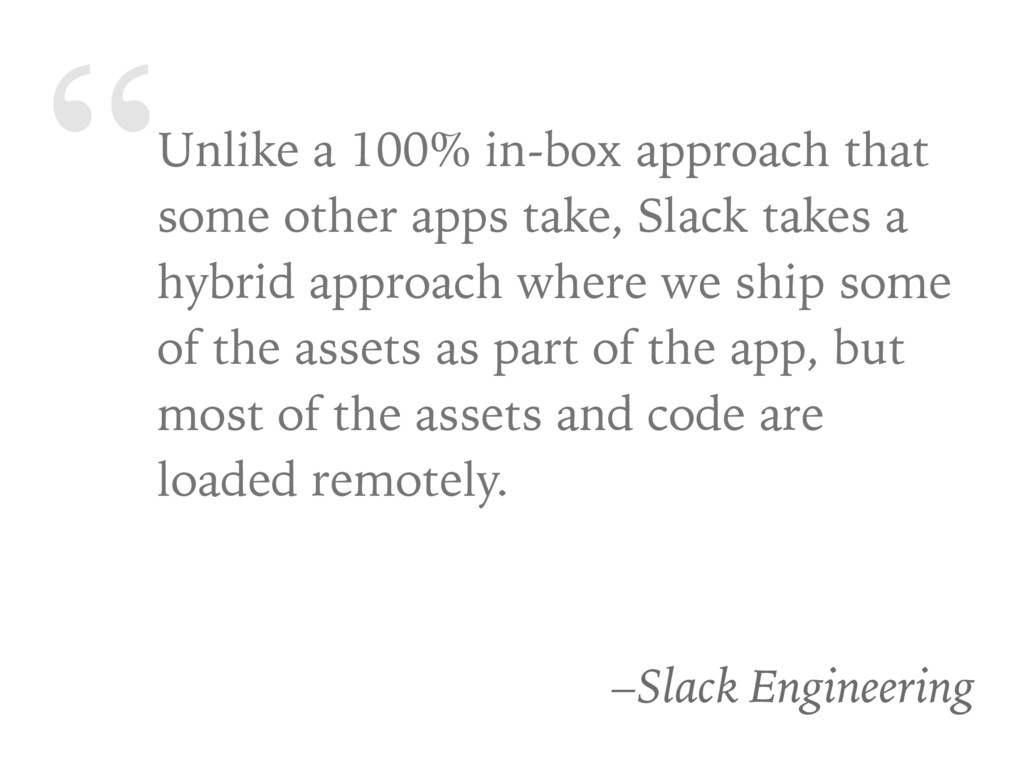"""""""Unlike a 100% in-box approach that some other ..."""