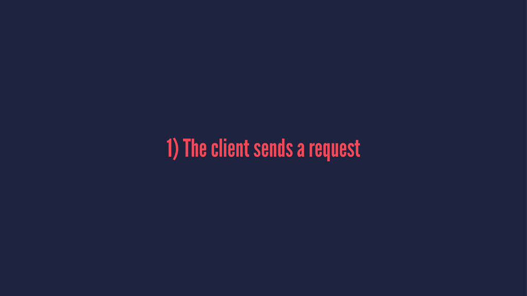 1) The client sends a request