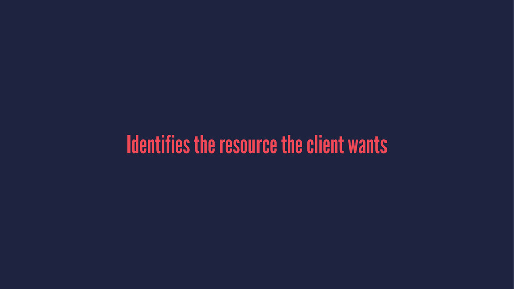 Identifies the resource the client wants