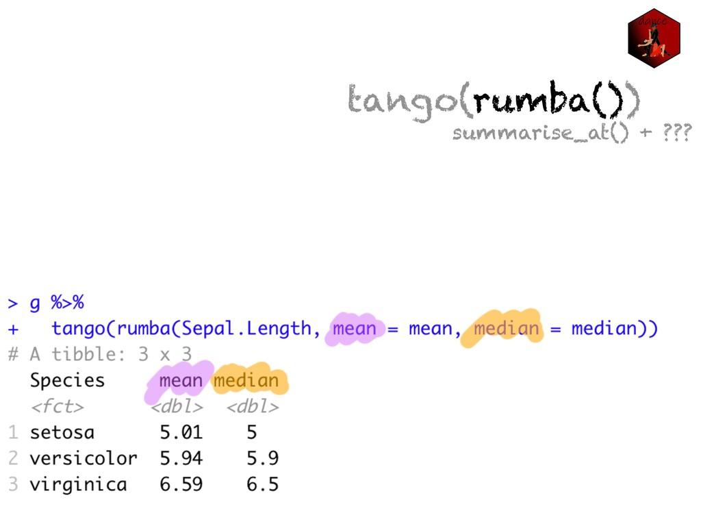 tango(rumba()) summarise_at() + ???