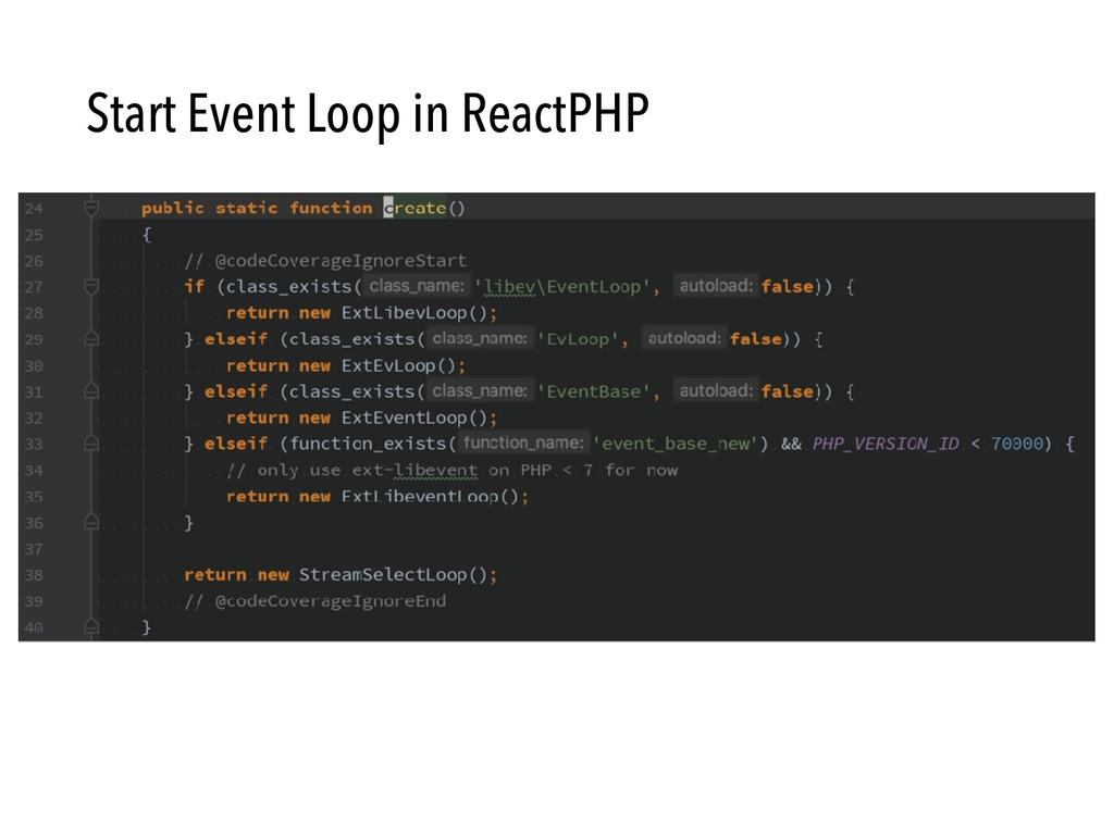 Start Event Loop in ReactPHP