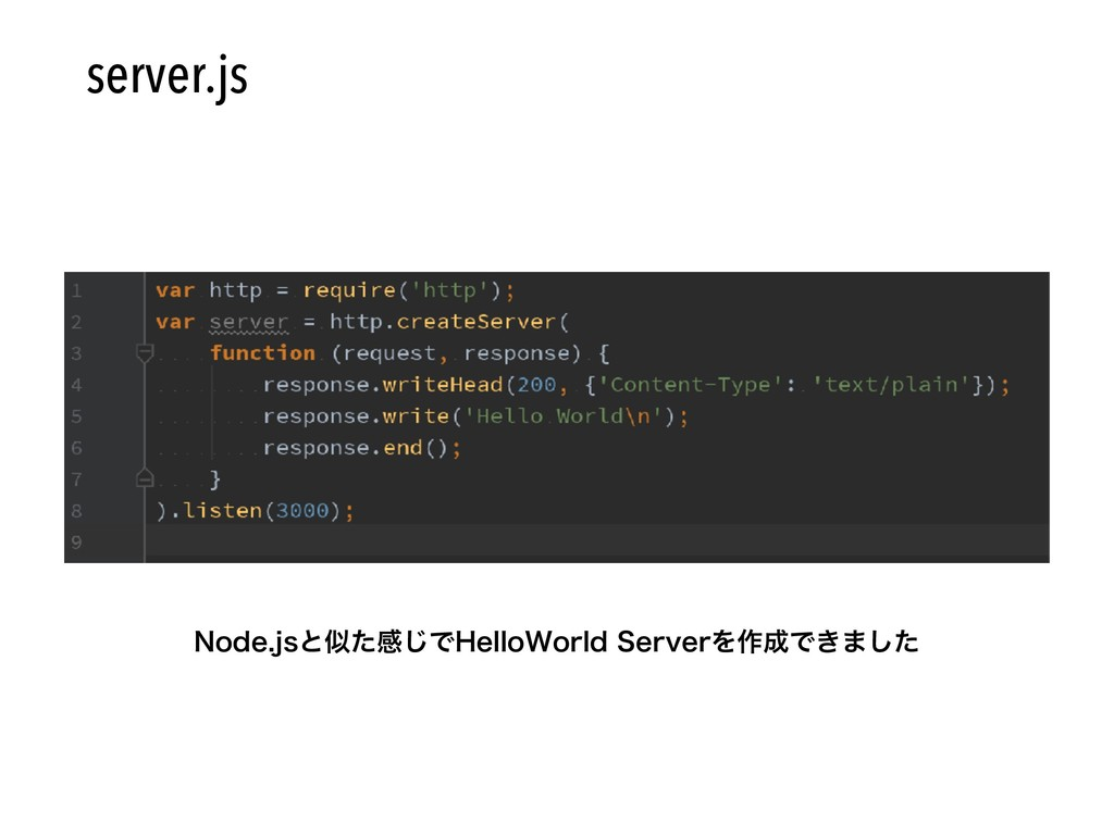 /PEFKTͱͨײ͡Ͱ)FMMP8PSME4FSWFSΛ࡞Ͱ͖·ͨ͠ server.js