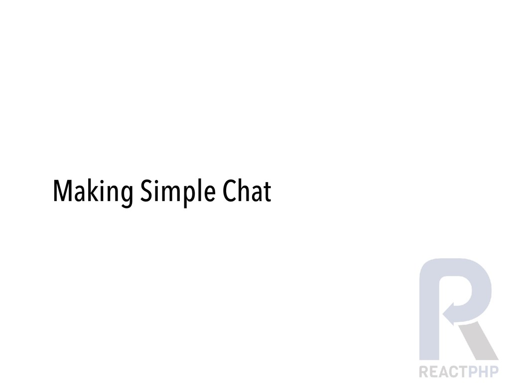 Making Simple Chat