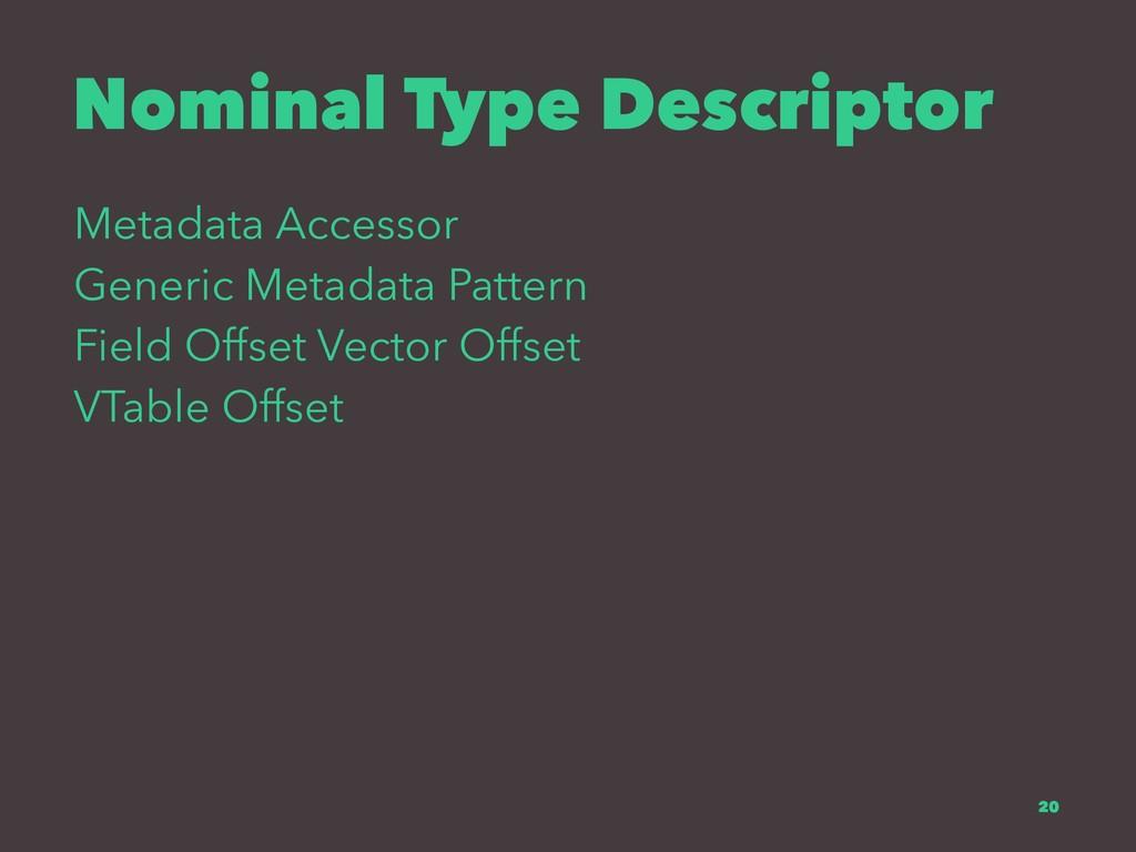 Nominal Type Descriptor Metadata Accessor Gener...