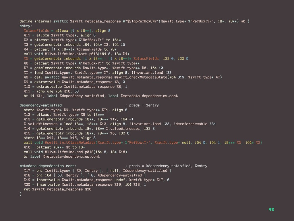 define internal swiftcc %swift.metadata_respons...