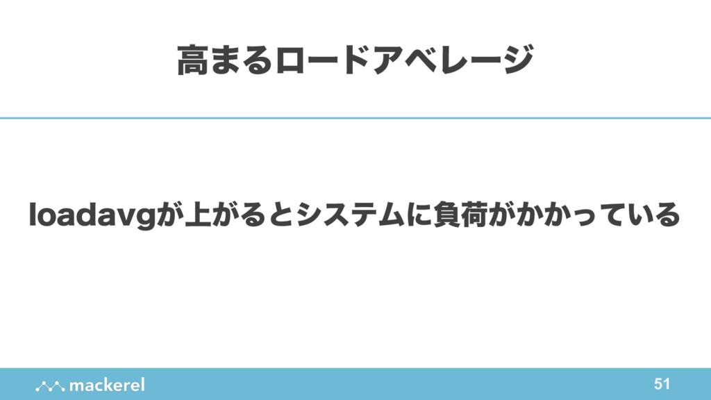 51 MPBEBWH্͕͕ΔͱγεςϜʹෛՙ͕͔͔͍ͬͯΔ ߴ·ΔϩʔυΞϕϨʔδ