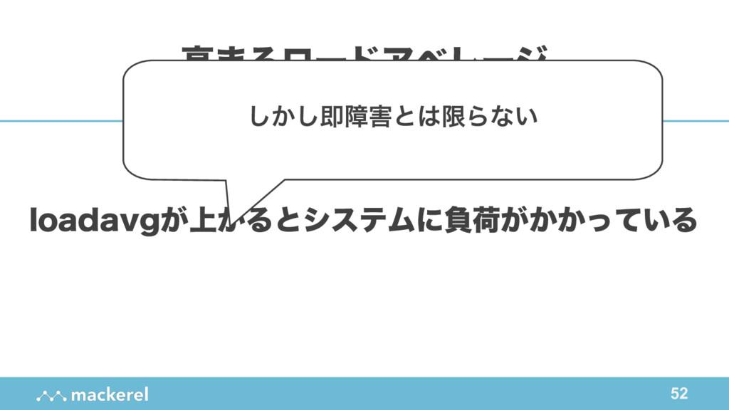 52 MPBEBWH্͕͕ΔͱγεςϜʹෛՙ͕͔͔͍ͬͯΔ ߴ·ΔϩʔυΞϕϨʔδ ͔͠͠ଈো...