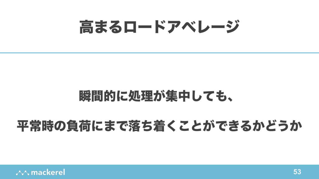 53 ॠؒతʹॲཧ͕ूதͯ͠ɺ ฏৗͷෛՙʹ·Ͱམͪண͘͜ͱ͕Ͱ͖Δ͔Ͳ͏͔ ߴ·Δϩʔυ...