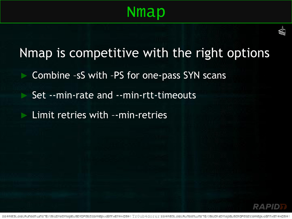 Nmap is competitive with the right options ► Co...