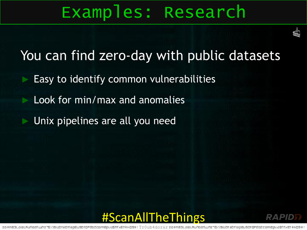 You can find zero-day with public datasets ► Ea...