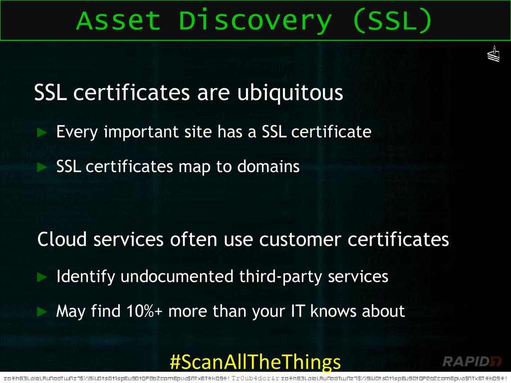 SSL certificates are ubiquitous ► Every importa...
