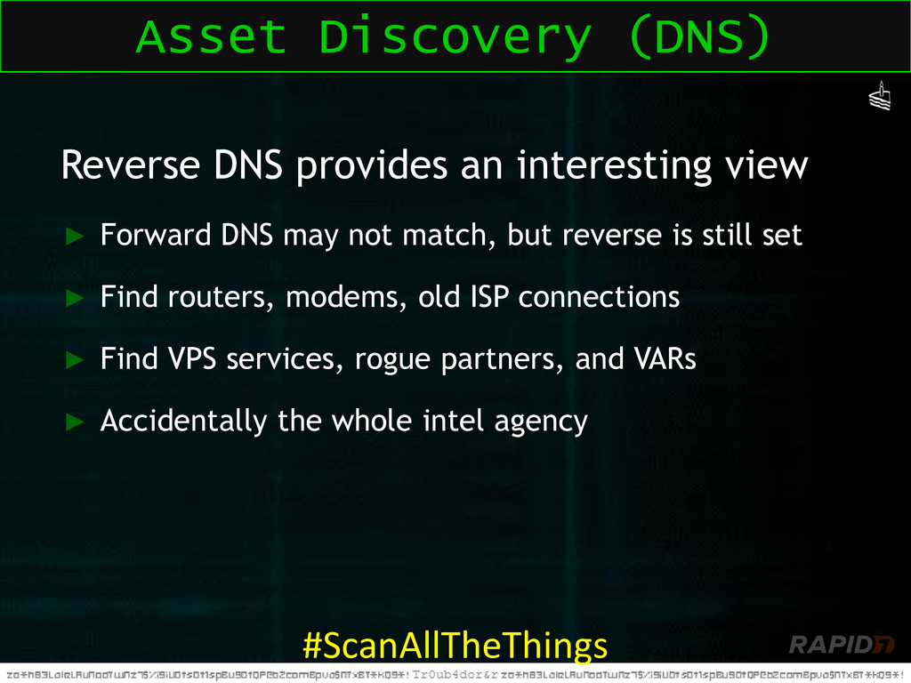 Reverse DNS provides an interesting view ► Forw...