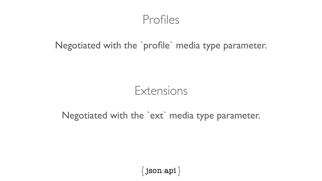 Profiles Extensions Negotiated with the `profile`...