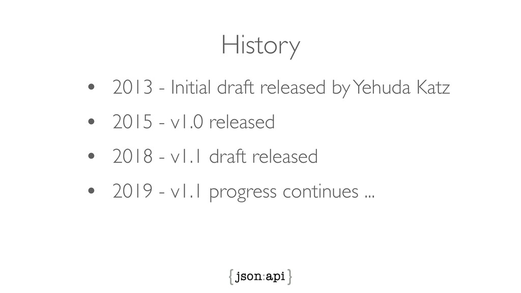 History • 2013 - Initial draft released by Yehu...