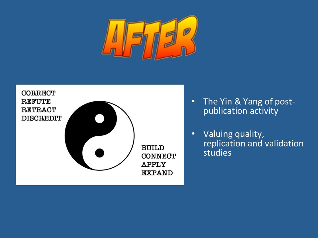 •  The Yin & Yang of post- publication activity...