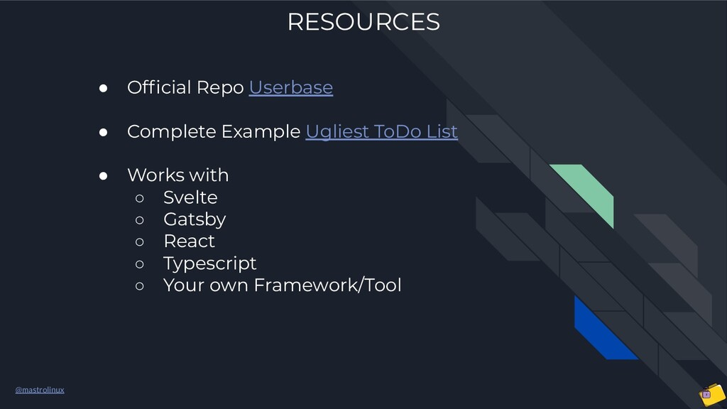 @mastrolinux RESOURCES ● Official Repo Userbase ...