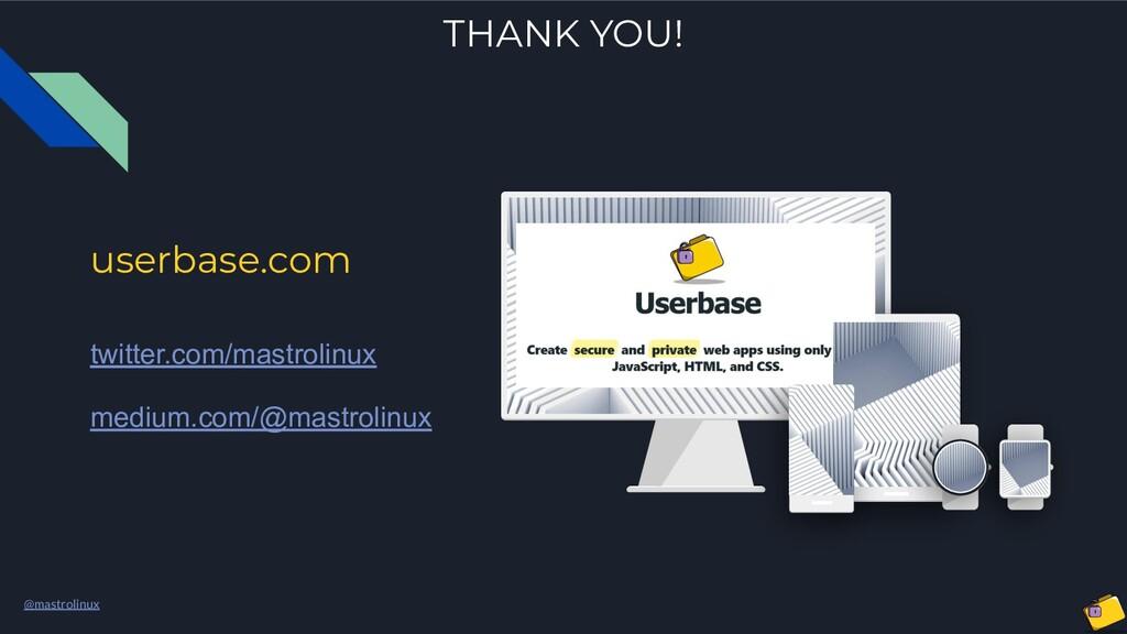 @mastrolinux userbase.com twitter.com/mastrolin...