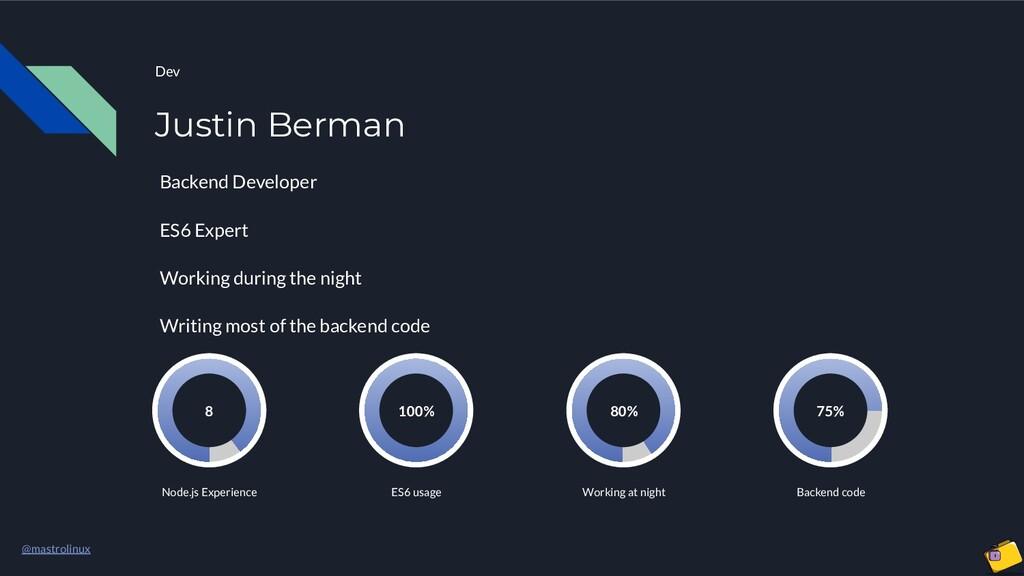 @mastrolinux Dev Justin Berman Backend Develope...
