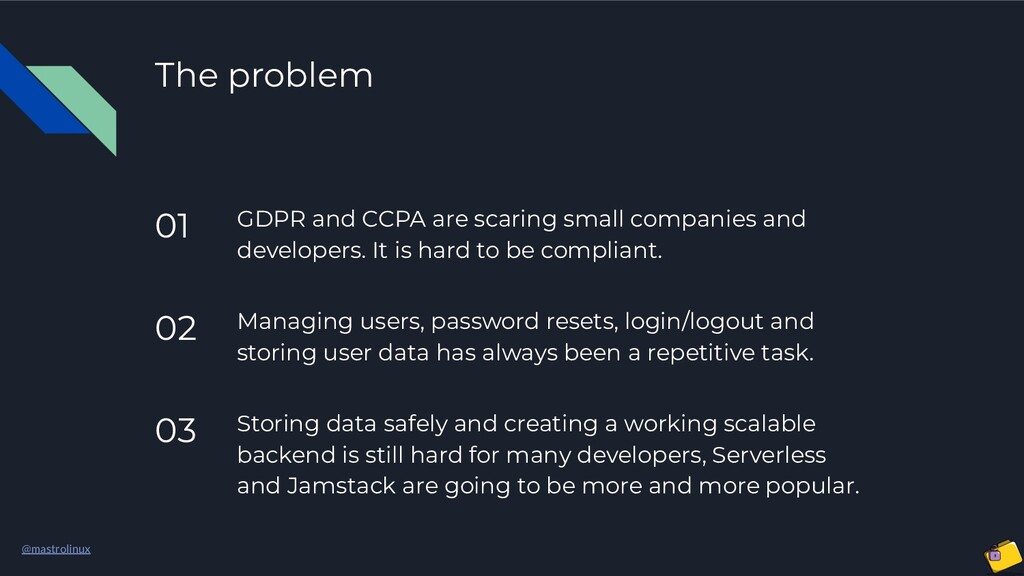 @mastrolinux The problem 01 GDPR and CCPA are s...