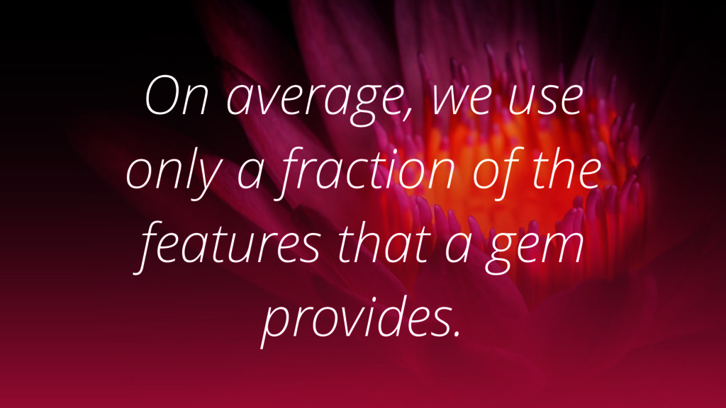 On average, we use only a fraction of the featu...