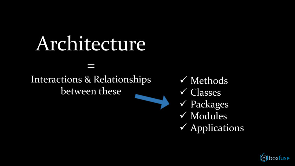 Architecture = Interactions & Relationships bet...