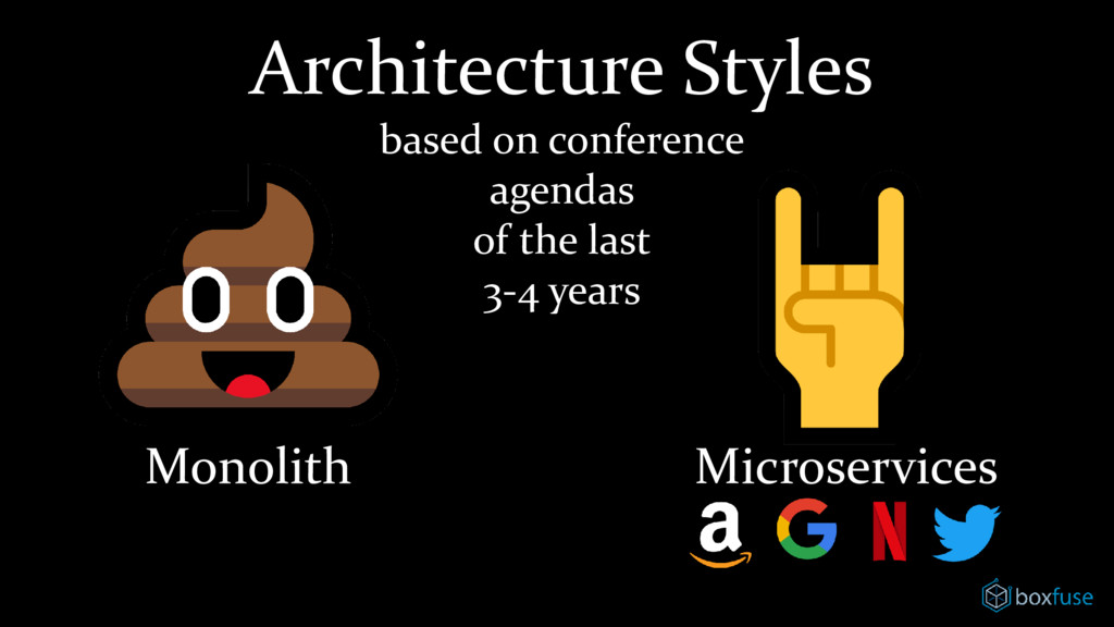 Architecture Styles based on conference agendas...