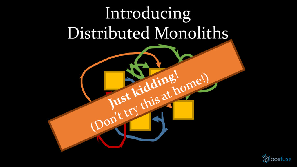 Introducing Distributed Monoliths