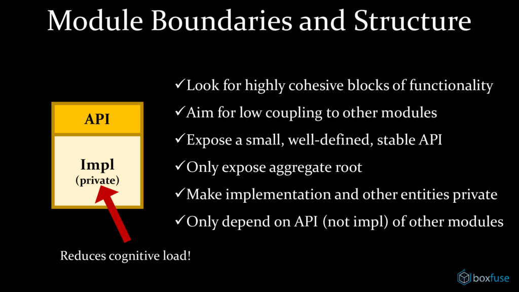 Module Boundaries and Structure API ✓Look for h...