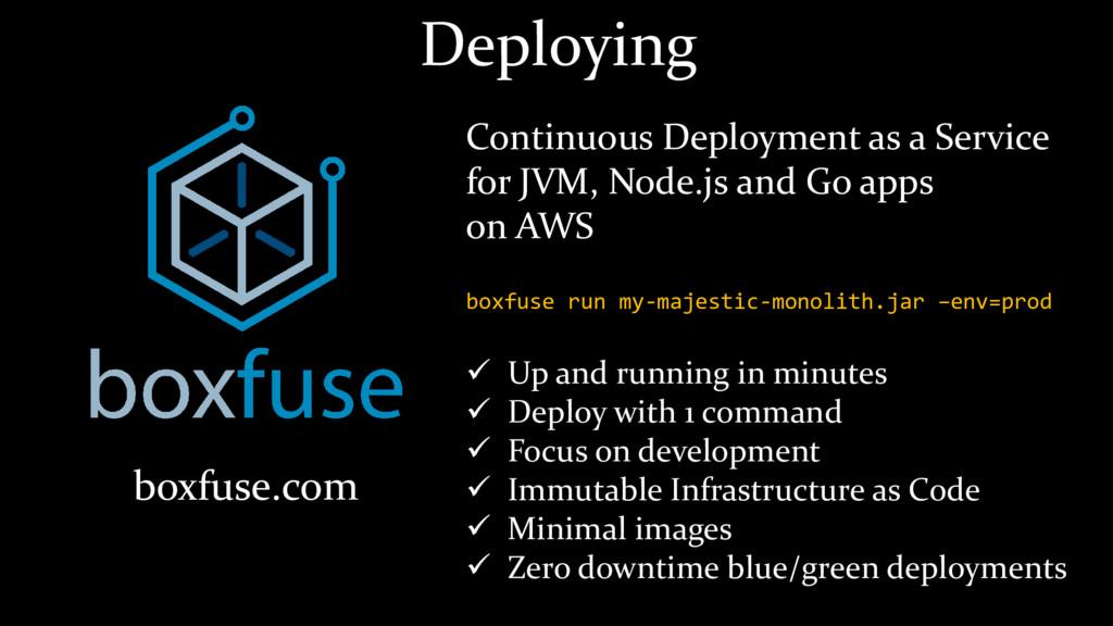 boxfuse.com Continuous Deployment as a Service ...