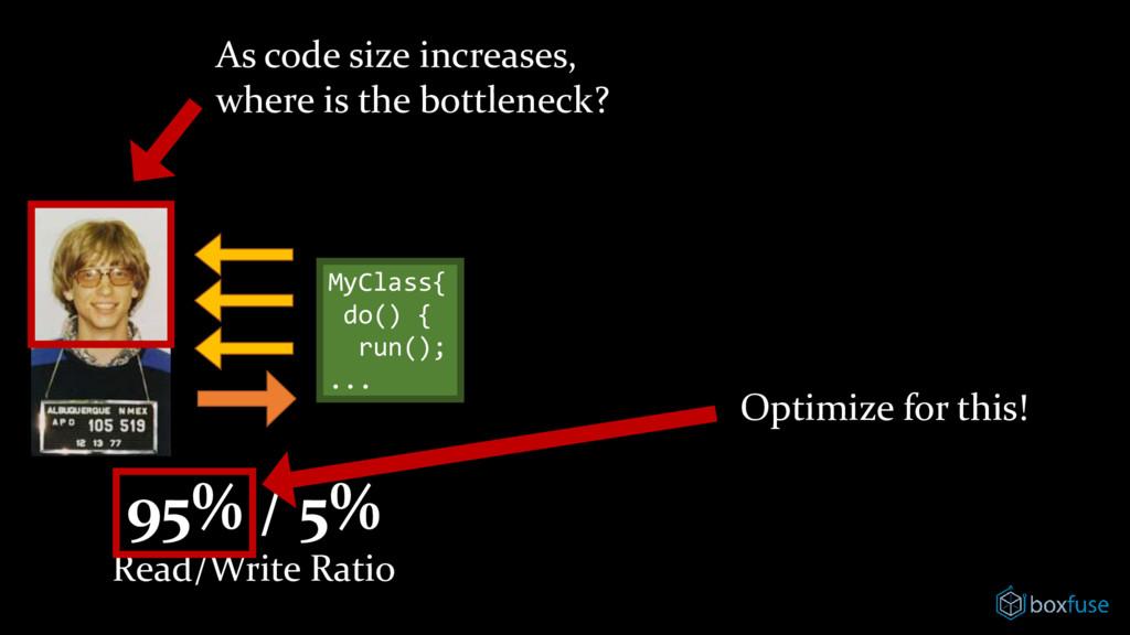 MyClass{ do() { run(); ... As code size increas...