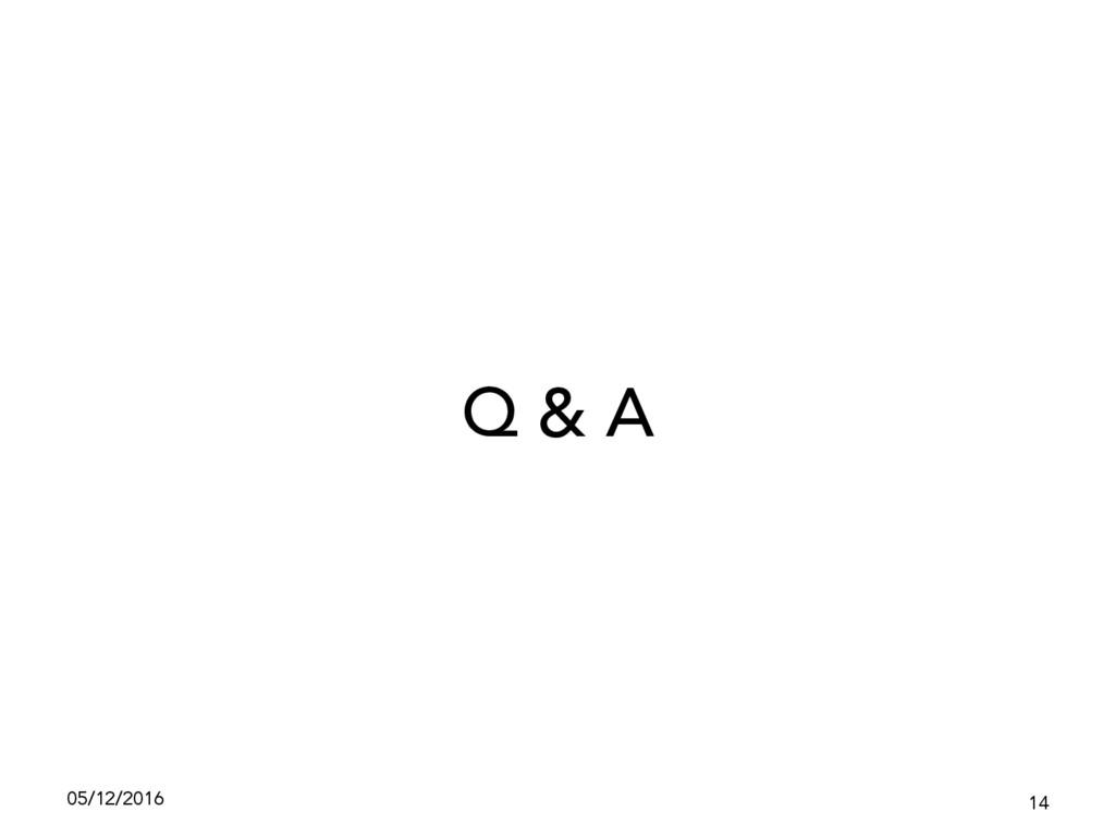 05/12/2016 14 Q & A