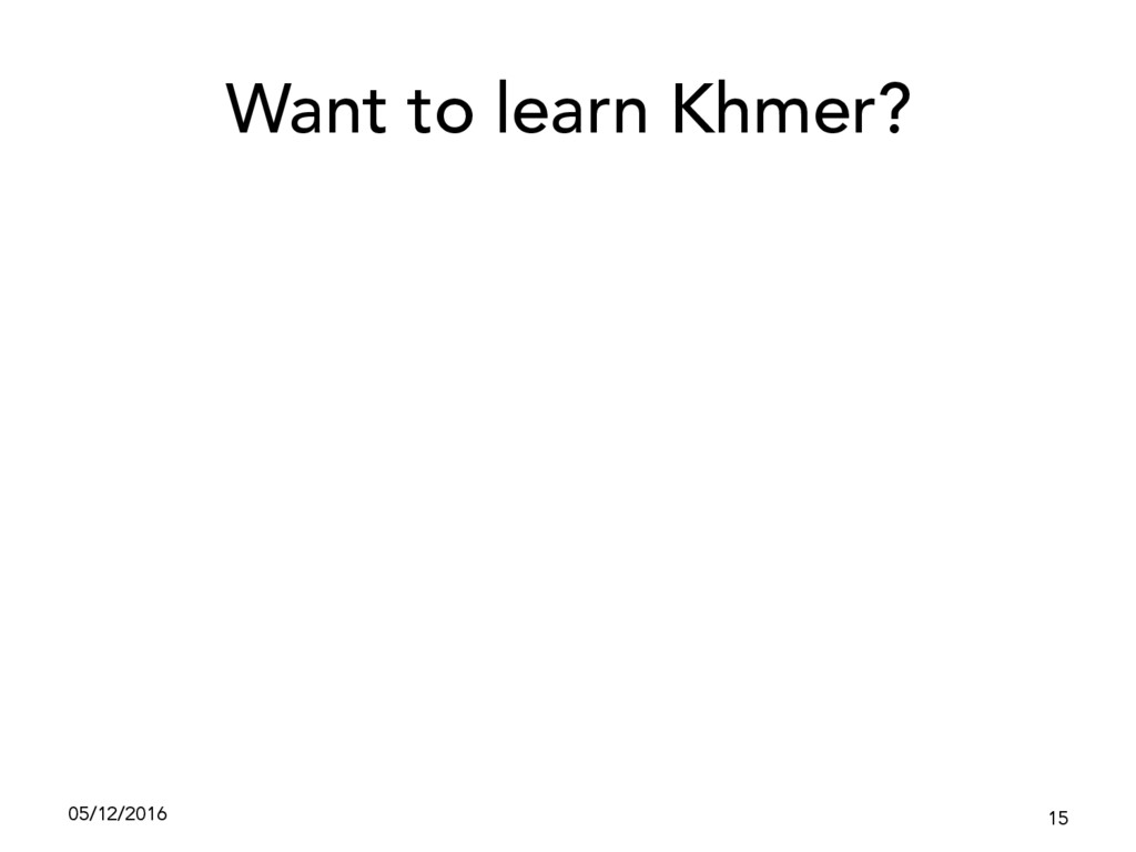 Want to learn Khmer? 05/12/2016 15