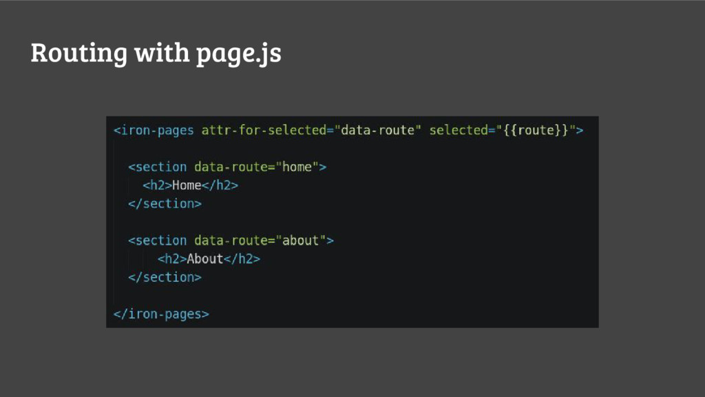 Routing with page.js