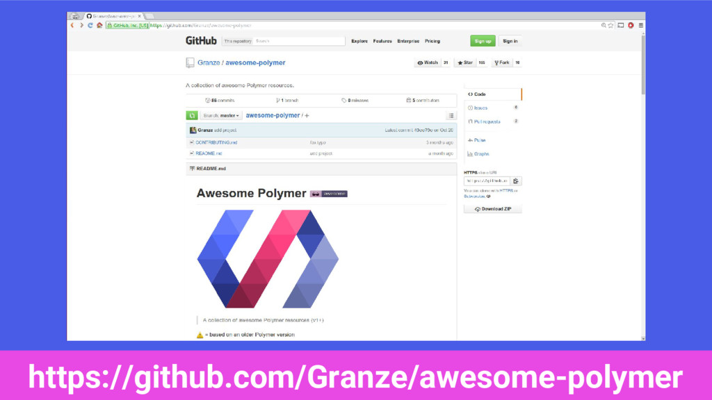 https://github.com/Granze/awesome-polymer