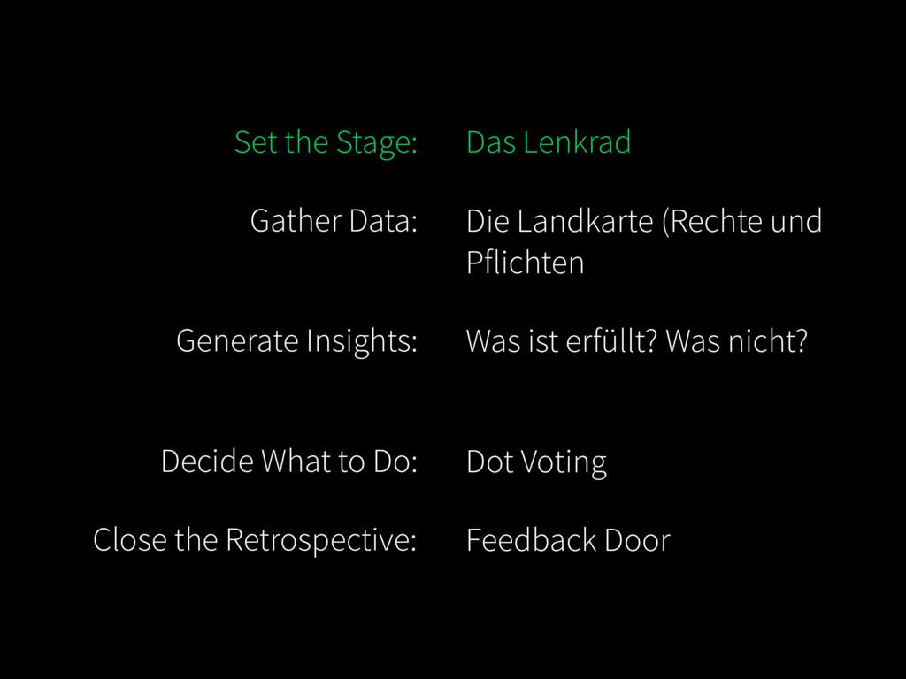 Set the Stage: Gather Data: Generate Insights:...