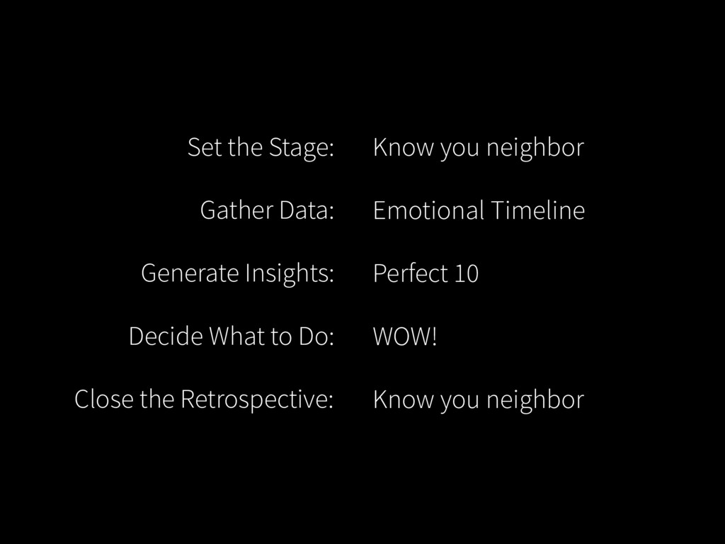 Set the Stage: Gather Data: Generate Insights: ...