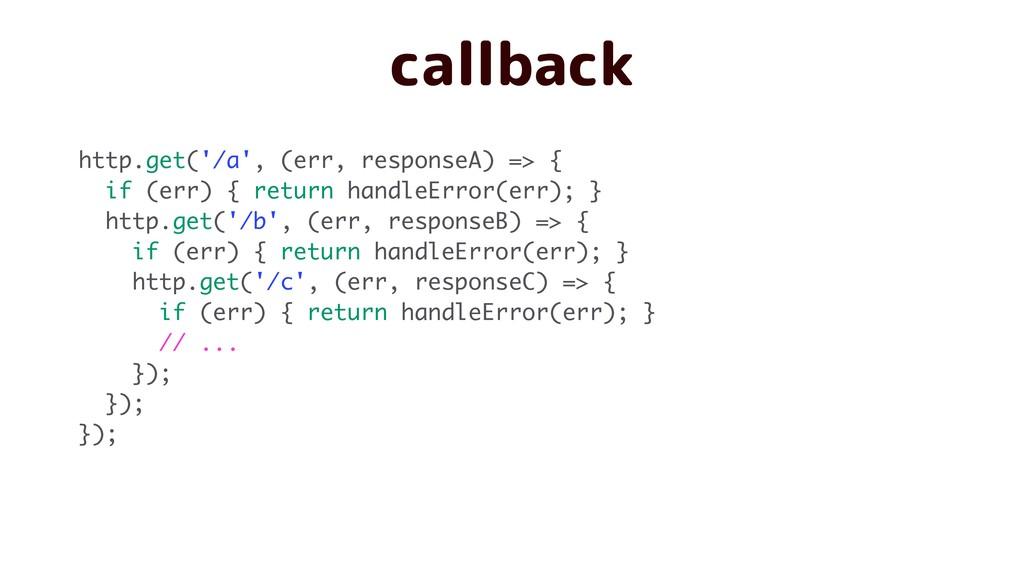 callback http.get('/a', (err, responseA) => { i...