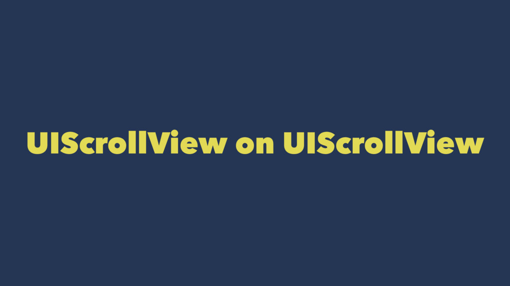 UIScrollView on UIScrollView